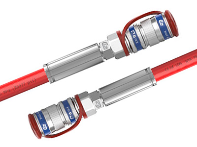 Single hose, DN6, 70 MPa with quick couplings