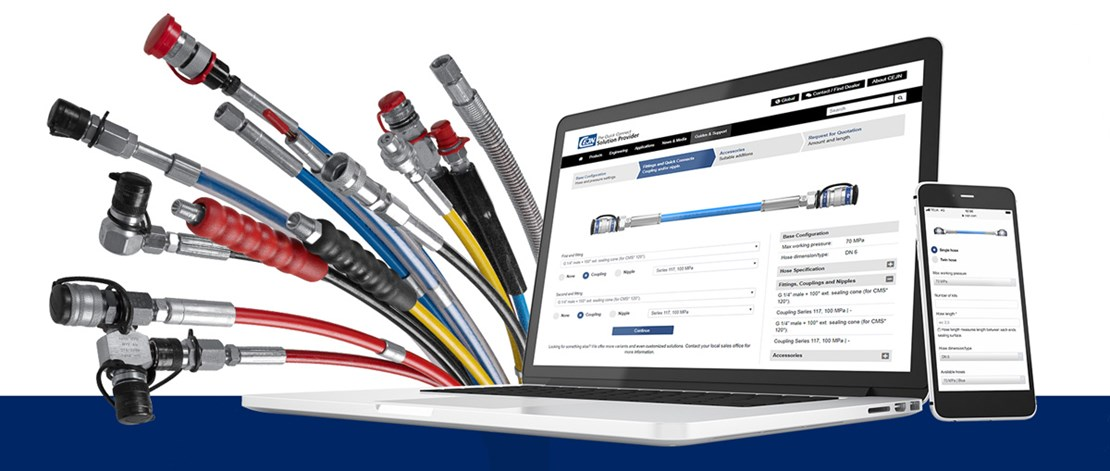 Configure and Order High-Pressure Hydraulic Hose Kits