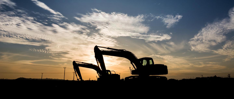Generic picture of excavator silhouettes
