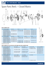 Hose & Cable reel -  spare parts guide