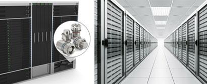Fabricante de servidor de dados usa engate antivazamento modular para resfriamento