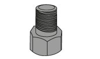 Original state of bolt and nut before stretching