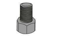State of bolt after stretching. The bolt behaves like a spring: when the pressure is released the bolt is under tension, creating the required clamping force across the joint.