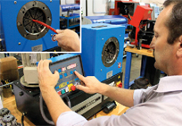 Ultra high pressure hyraulics HOSE CRIMPING Each High-Pressure Center features a hose crimping facility that assembles hose kits to customer orders.