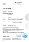 DGUV Certificate acc. to GS-ET-40