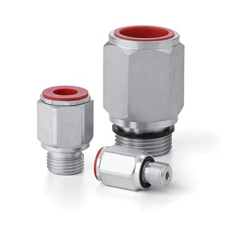 Couplings - Male G-Thread with Integral Rubber Seal